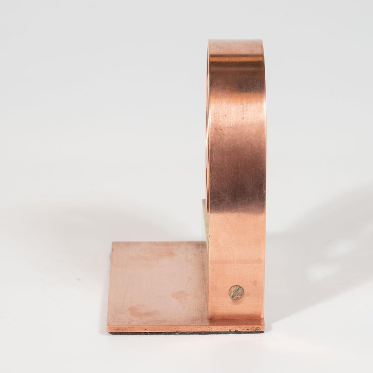 Pair of Art Deco Machine Age Copper Scroll Form Book Ends by Walter Von Nessen For Sale 4
