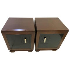 Pair of Art Deco Moderne Nightstands