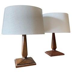 Pair of Art Deco Modernist Tablelamps