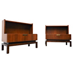 Pair of Art Deco Night Stands by De Coene Brothers, Belgium