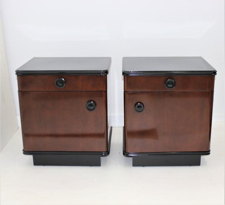 Pair of Art Deco Nightstands For Sale 5