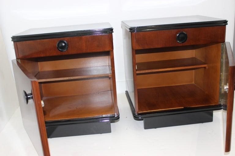 American Pair of Art Deco Nightstands For Sale