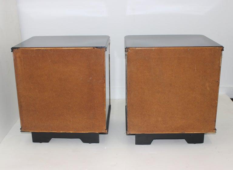 Wood Pair of Art Deco Nightstands For Sale