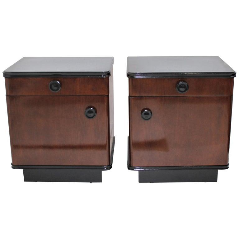 Pair of Art Deco Nightstands For Sale