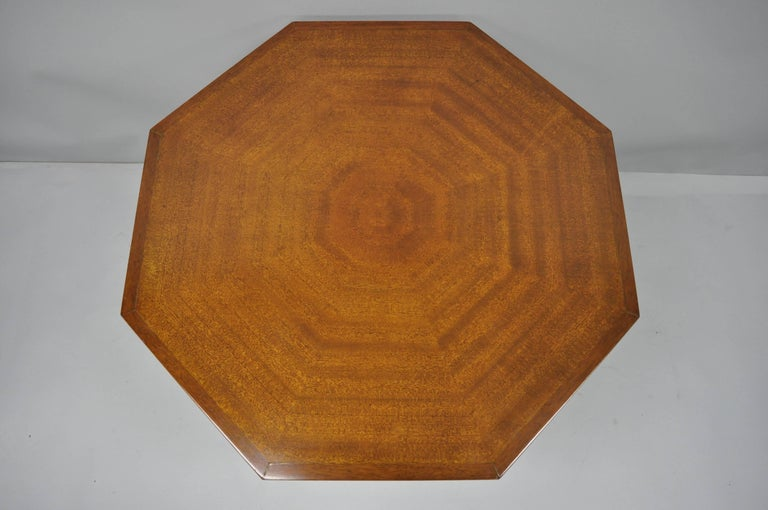 Pair of Art Deco Octagonal Mahogany & Lucite Pedestal Side Tables Grosfeld House For Sale 1