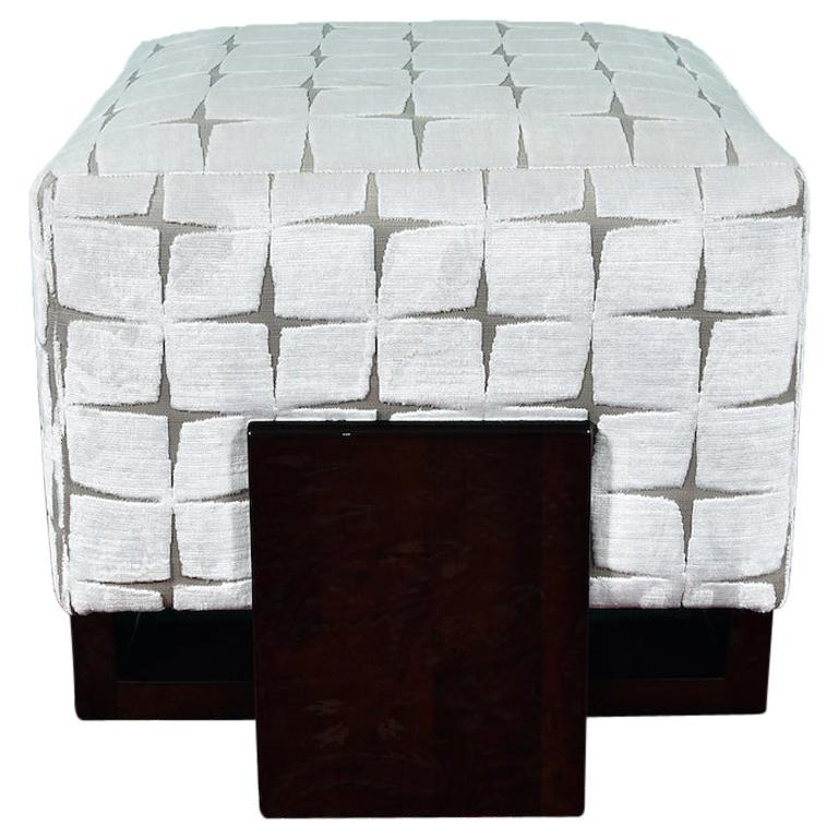 Art Deco Ottoman in Palisander from France