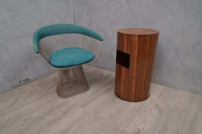 Italian Art Deco tables. All veneered in zebra wood. 