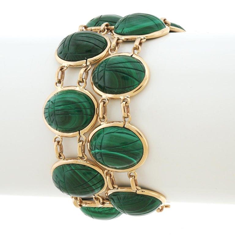 Pair of Art Deco Scarab Bracelets For Sale 6