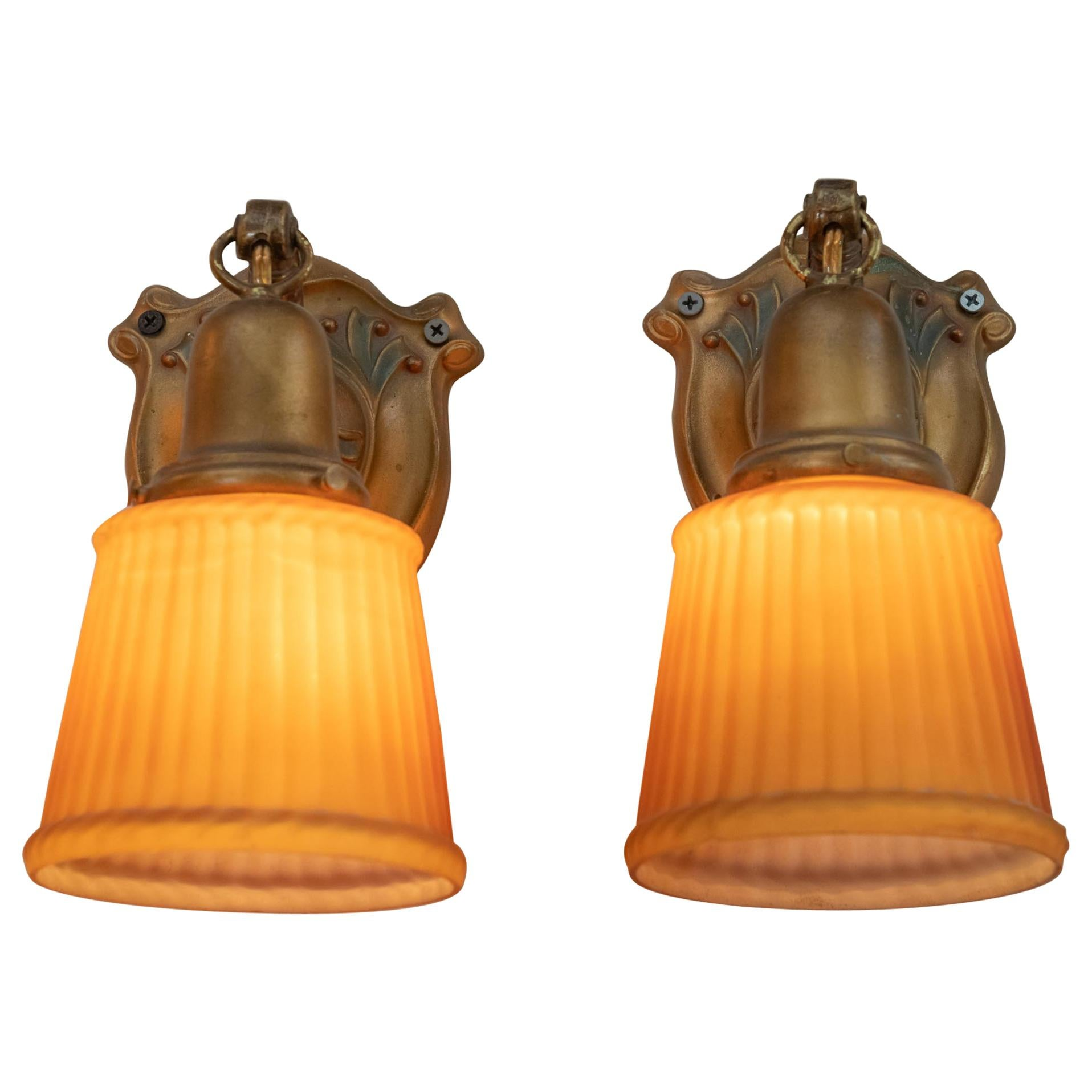 Pair of Art Deco Sconces, circa 1920s