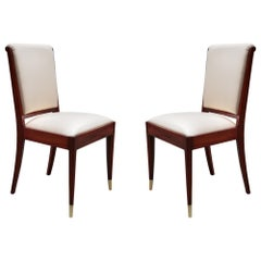 Pair of Art Deco Side Chairs by De Coene Frères