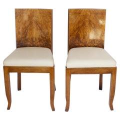Pair of Art Deco Side Chairs English, Circa 1930