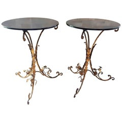 Pair of Art Deco Side Tables, France 1940