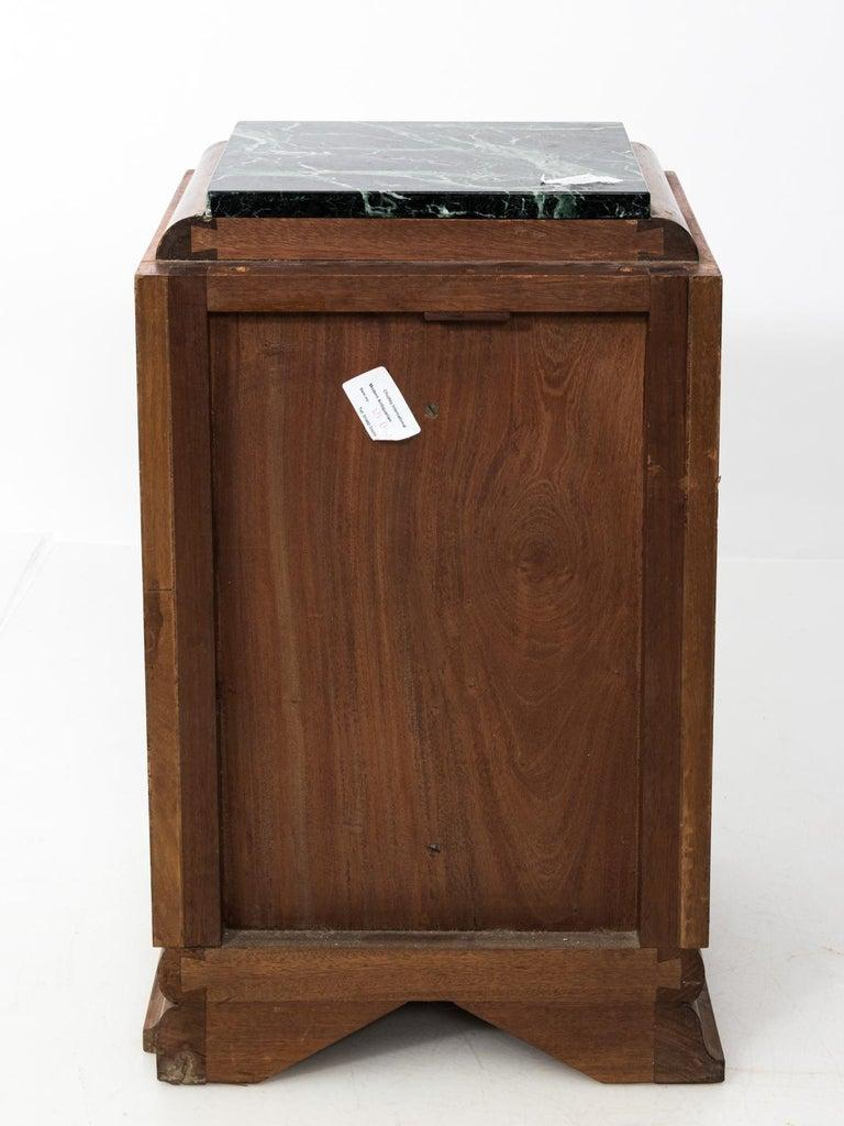 Pair of Art Deco Side Tables with Marble Tops, circa 1930s For Sale 3