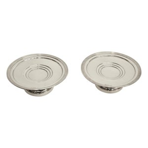 Pair of Art Deco Silver Sweet Dishes Dated 1938, G Bryan & Co