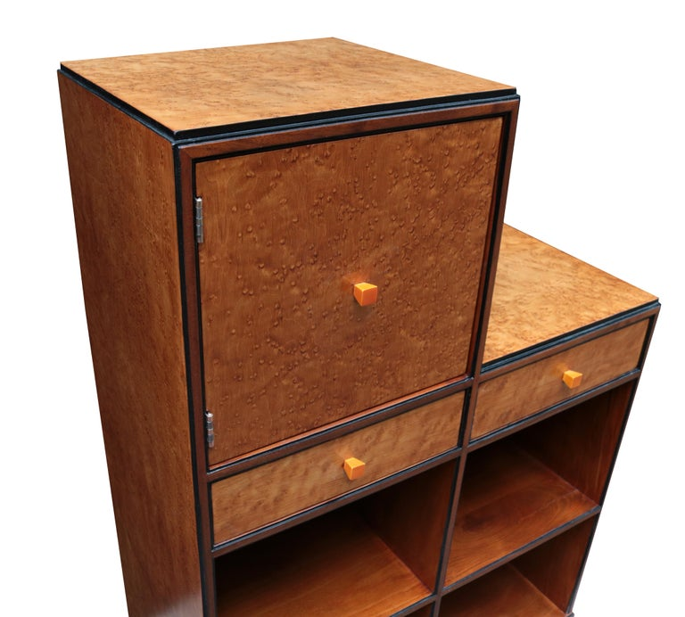 Early 20th Century Pair of Art Deco Skyscraper Cabinets For Sale