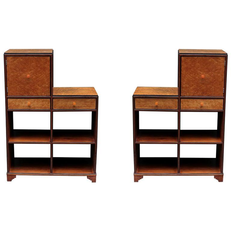 Pair of Art Deco Skyscraper Cabinets For Sale