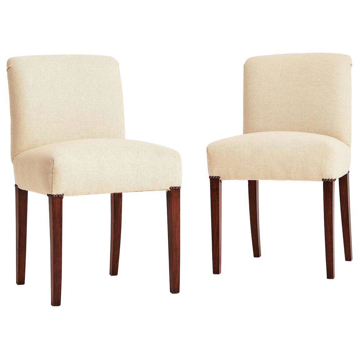 Pair of Art Deco Slipper Chairs
