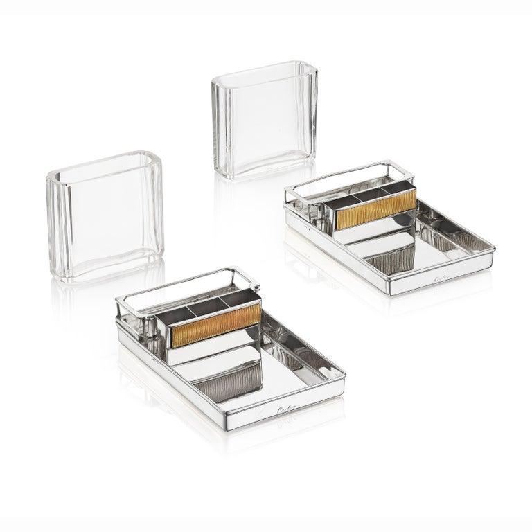 Cartier Paris Pair of Art Deco Smoker's Compendiums, circa 1930 In Good Condition For Sale In New York, NY