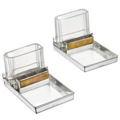 Cartier Paris Pair of Art Deco Smoker's Compendiums, circa 1930