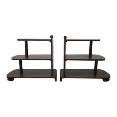 Pair of Art Deco Streamline Three-Tier End Tables