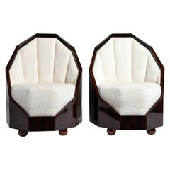 Pair of Art Deco Style Cocoon Chairs