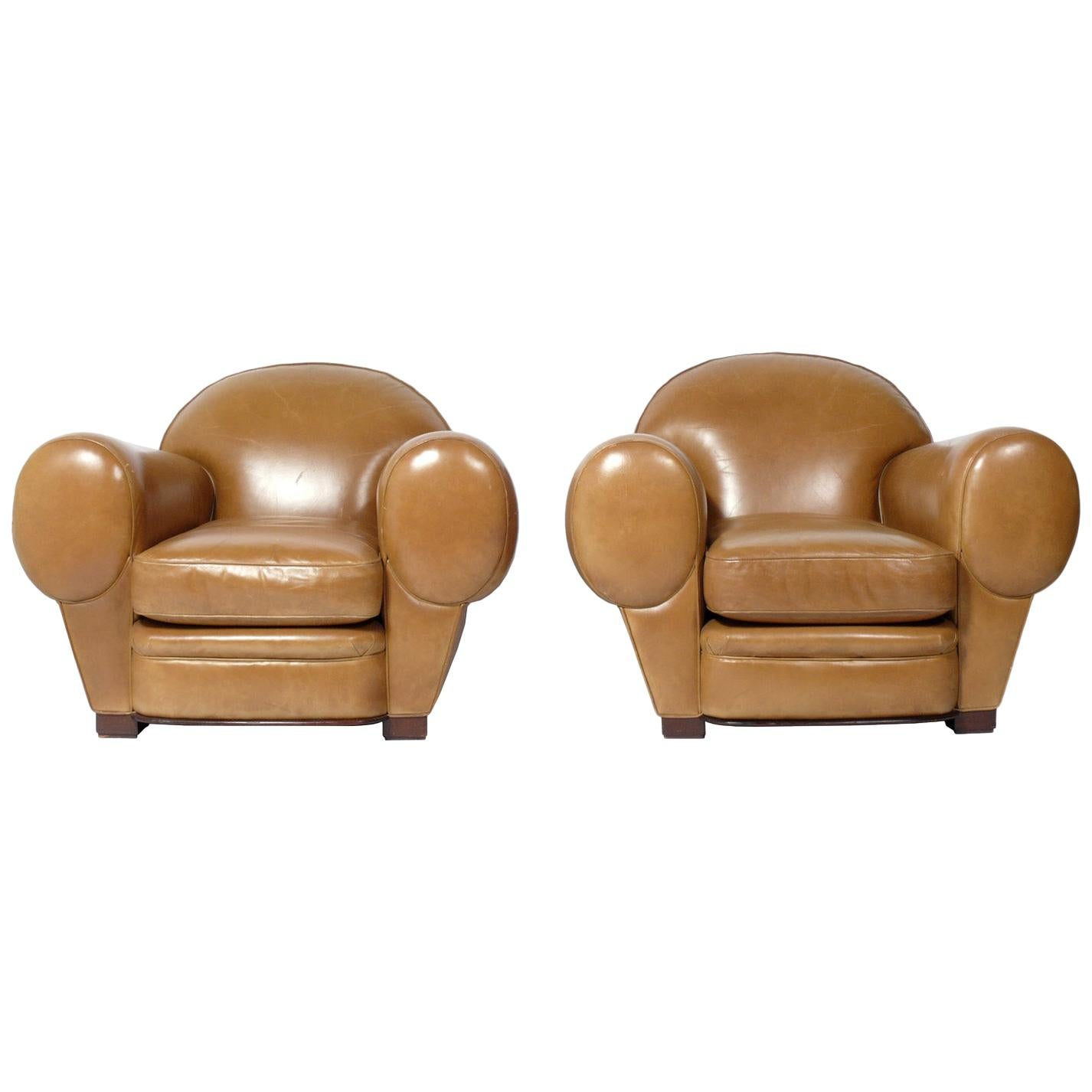 """Pair of Art Deco Style """"Elephant"""" Club Chairs"""