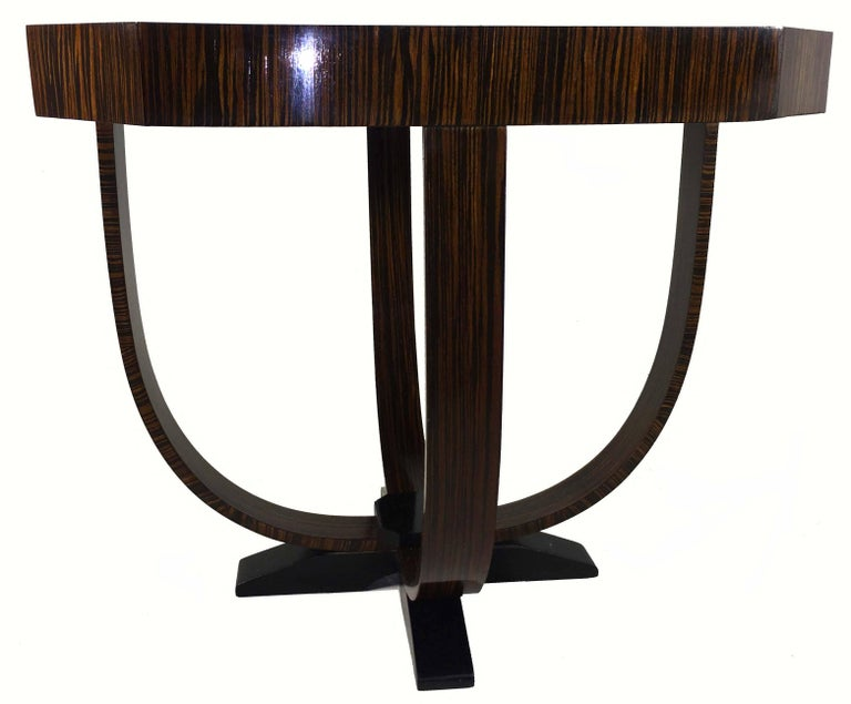 Pair of Art Deco Style Exotic Macassar Ebony, Budapest, 1950s For Sale 8