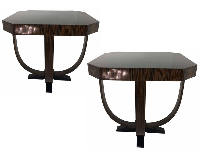 Beautiful pair of coffee tables. Coming from an important café bar in Budapest.