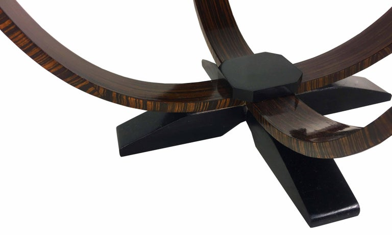 Pair of Art Deco Style Exotic Macassar Ebony, Budapest, 1950s In Excellent Condition For Sale In Budapest, HU