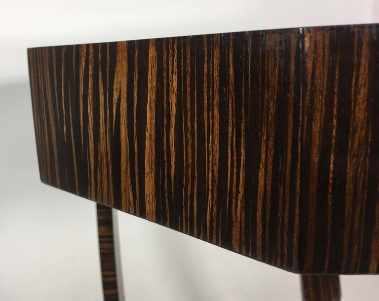 20th Century Pair of Art Deco Style Exotic Macassar Ebony, Budapest, 1950s For Sale