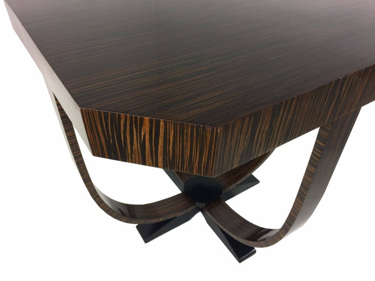 Pair of Art Deco Style Exotic Macassar Ebony, Budapest, 1950s For Sale 1