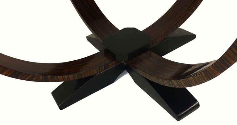 Pair of Art Deco Style Exotic Macassar Ebony, Budapest, 1950s For Sale 2