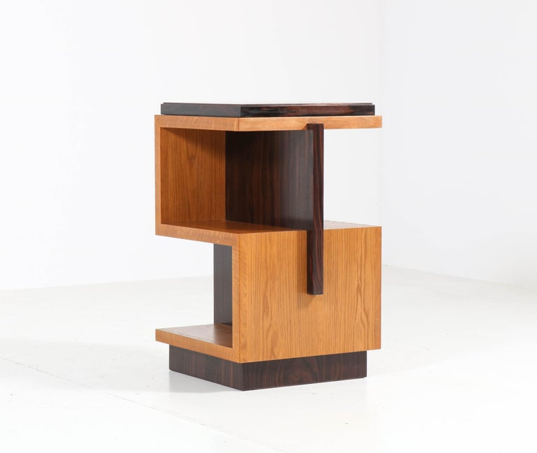 Pair of Art Deco Style Haagse School Style Side Tables, 2020 In New Condition For Sale In Amsterdam, NL