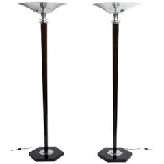 Pair of Art Deco Style Hungarian Floor Lamps