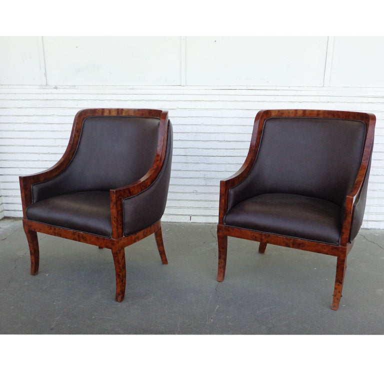 Unknown Pair of Art Deco Style Lounge Chairs For Sale