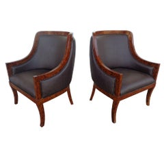 Pair of Art Deco Style Lounge Chairs