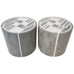 Pair of Art Deco Style Marble Side Tables