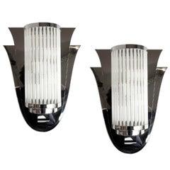 Pair of Art Deco Style Modernist Sconces