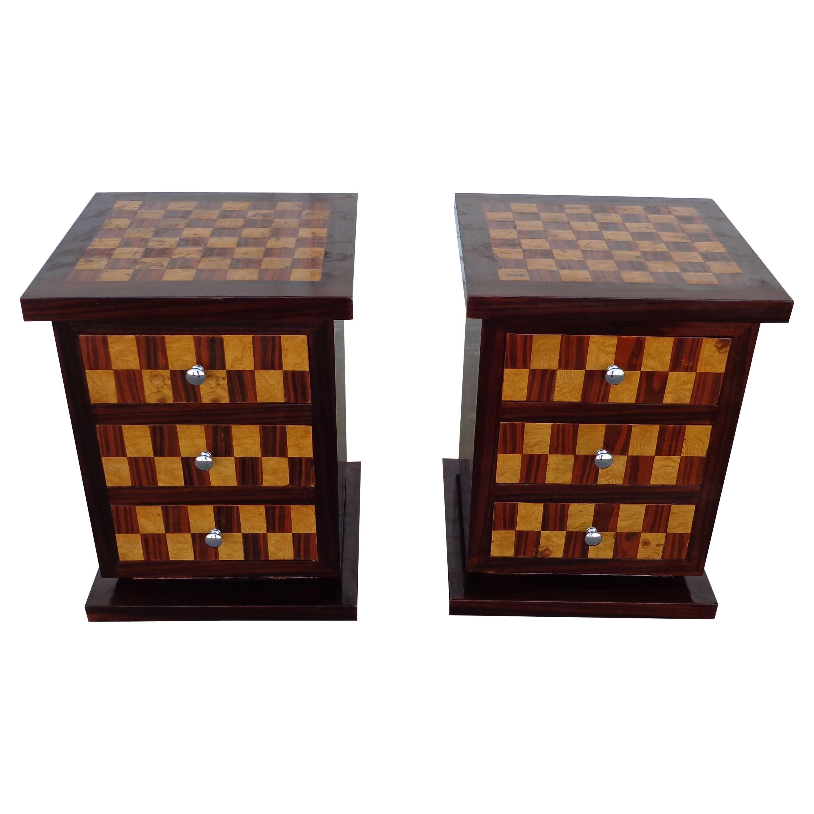 Pair of Art Deco Style Nightstands or Side Tables