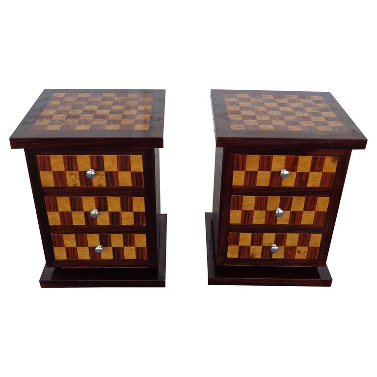 Pair of Art Deco Style Nightstands or Side Tables For Sale