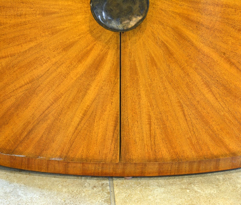 Pair of Art Deco Style Oval Mahogany Cabinet-Tables Inspired by Andre Arbus 3