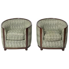 Pair of Art Deco Style Tub Chairs