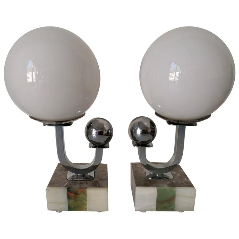 Pair of Art Deco Table Lamps For Sale