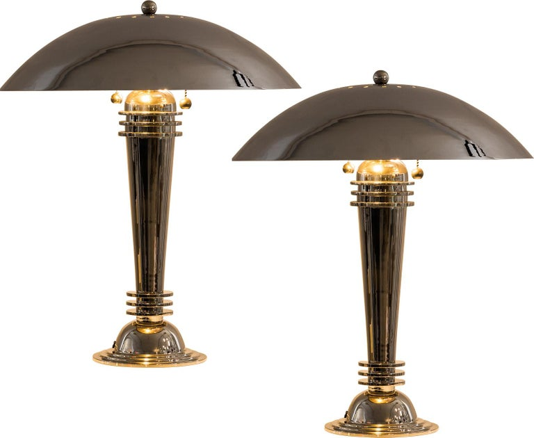 Hand-Crafted A Pair of Vintage Art Deco Table Lamps Original 1925 For Sale