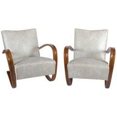 Pair of Art Deco Thonet H269 Armchairs by Jindrich Halabala