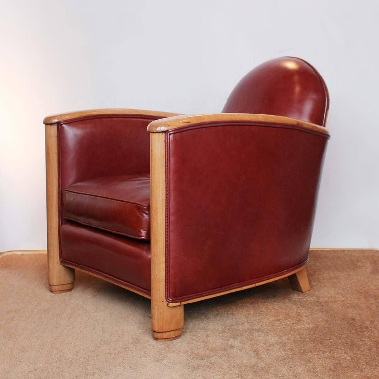 French Pair of Art Deco Tub Chairs For Sale