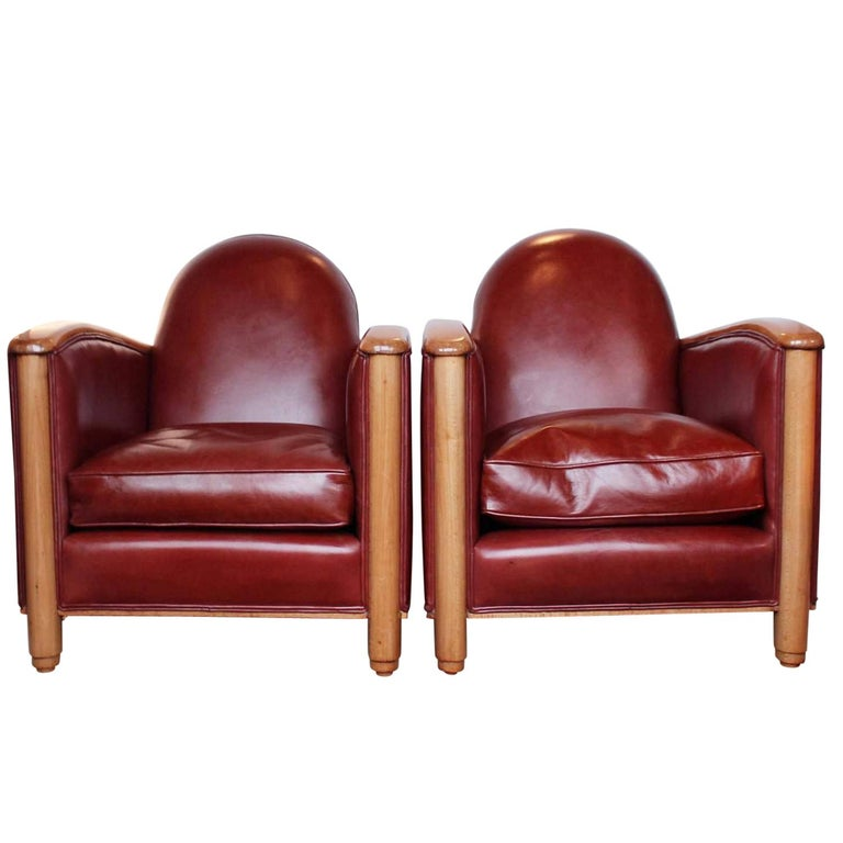 Pair of Art Deco Tub Chairs For Sale