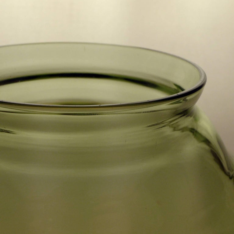 Blown Glass Pair of Art Deco Vases For Sale