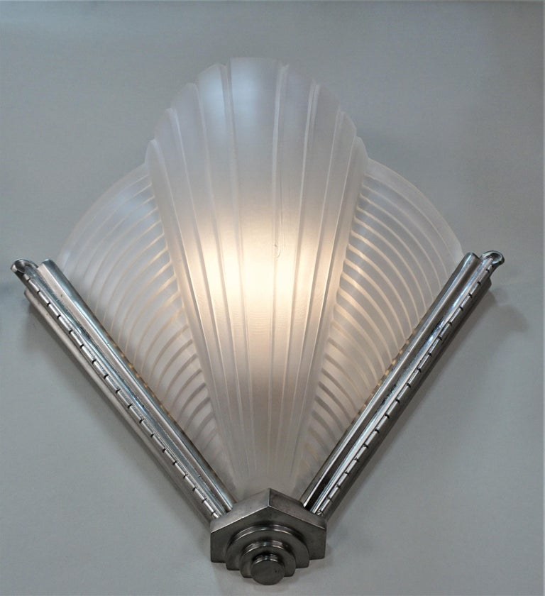 Pair of Art Deco Wall Sconces by Atelier Petite In Good Condition For Sale In Fairfax, VA