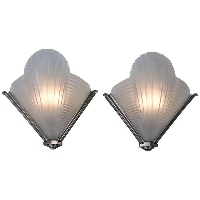 Pair of Art Deco Wall Sconces by Atelier Petite For Sale